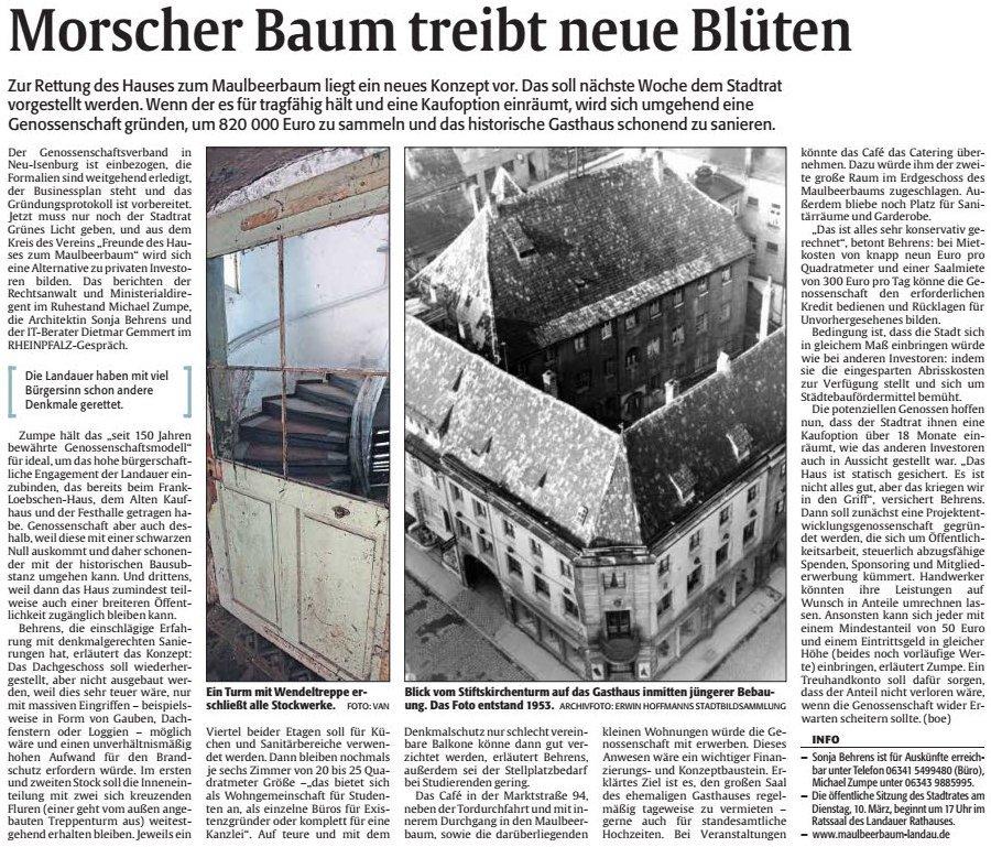 2-Artikel-Rheinpfalz-Morscher-Baum-treibt-neue-Blueten-2015-03-04