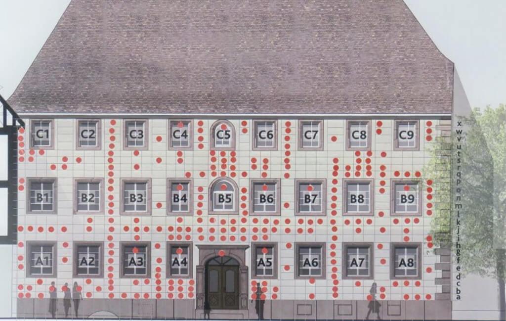 Raster Haus zum Maulbeerbaum Aufteilung Spender-Bausteine (Bild)
