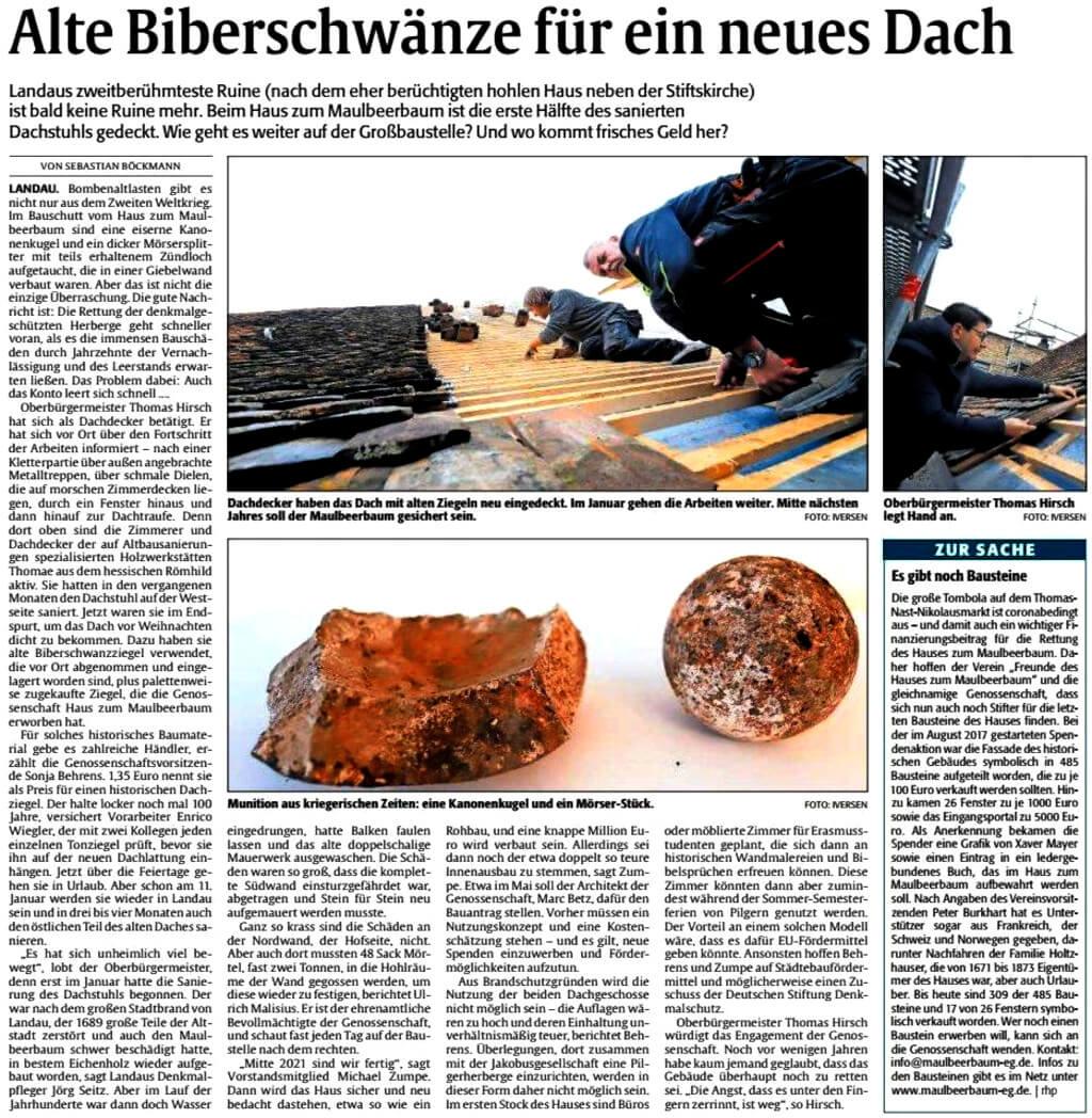 Scan Rheinpfalz-Artikel 24.12.2020
